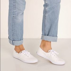 Keds Shoes - NWB Keds White Champion Canvas Lace Up Sneakers